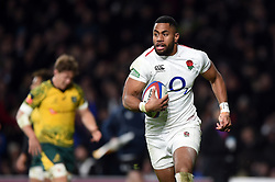 Joe Cokanasiga of England runs in a try in the second half - Mandatory byline: Patrick Khachfe/JMP - 07966 386802 - 24/11/2018 - RUGBY UNION - Twickenham Stadium - London, England - England v Australia - Quilter International