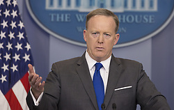 July 21, 2017 - White House press secretary Sean Spicer has resigned on Friday, after President Trump named a Wall Street financier as his top communications official. PICTURED: March 20, 2017 - Washington, District of Columbia, United States of America - Presidential Press Secretary SEAN SPICER holds a news briefing at the White House. (Credit Image: © Chris Kleponis/Pool/CNP via ZUMA Wire)