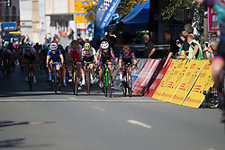 \annmar of BTC City Ljubljsana Cycling Team pips Amy Pieters (NED) of Team Netherlands for second on Stage 1 of the Lotto Thuringen Ladies Tour - a 124.8 km road race, starting and finishing in Schleiz on July 13, 2017, in Thuringen, Germany. (Photo by Balint Hamvas/Velofocus.com)