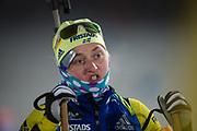 &Ouml;STERSUND, SVERIGE - 2017-12-03: Emma Nilsson under damernas jaktstart t&auml;vling under IBU World Cup Skidskytte p&aring; &Ouml;stersunds Skidstadion den 1 december 2017 i &Ouml;stersund, Sverige.<br /> Foto: Johan Axelsson/Ombrello<br /> ***BETALBILD***