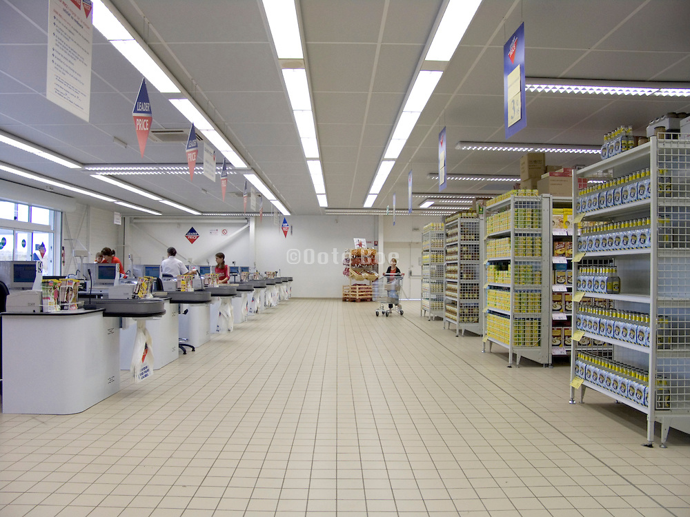 new and very clean supermarket