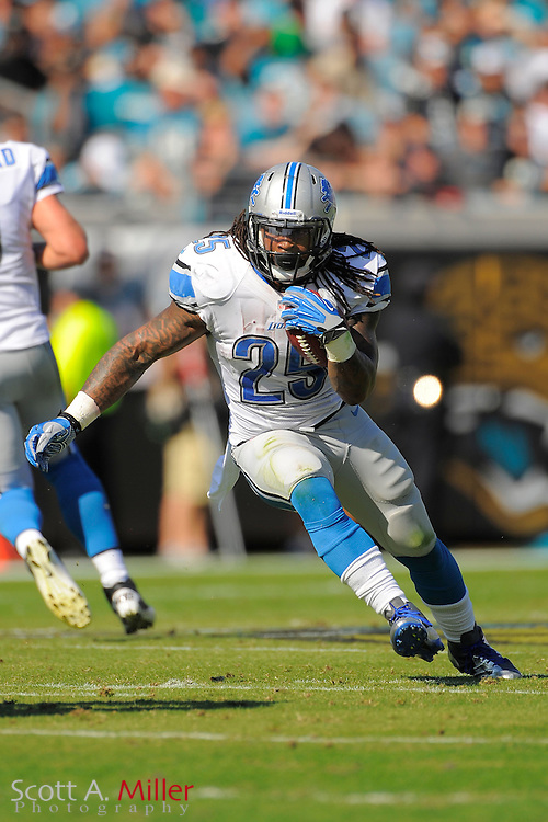 Detroit Lions running back Mikel Leshoure (25) runs up field during the Lions 31-14 win over the Jacksonville Jaguars at EverBank Field on November 4, 2012 in Jacksonville, Florida. ..©2012 Scott A. Miller..