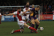 Kelvin Langmead and Danny Wright during the Vanarama National League match between Kidderminster Harriers and Cheltenham Town at Aggborough, Kidderminster, United Kingdom on 26 December 2015. Photo by Antony Thompson.