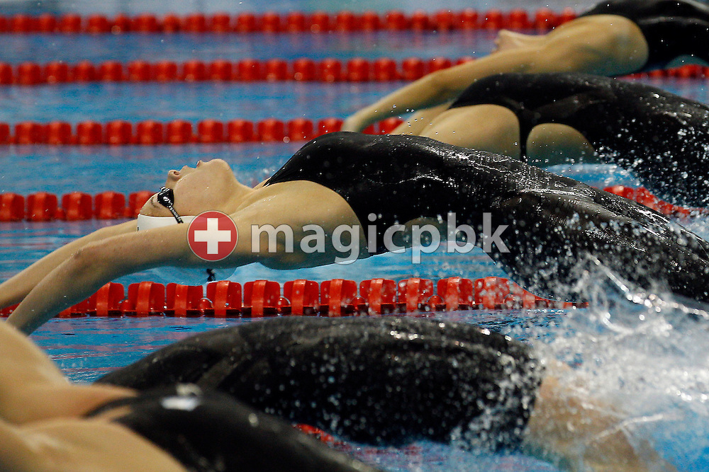 Mie Ostergaard NIELSEN (C) of Denmark starts in the women's 50m Backstroke Heats during the 14th FINA World Aquatics Championships at the Oriental Sports Center in Shanghai, China, Wednesday, July 27, 2011. (Photo by Patrick B. Kraemer / MAGICPBK)