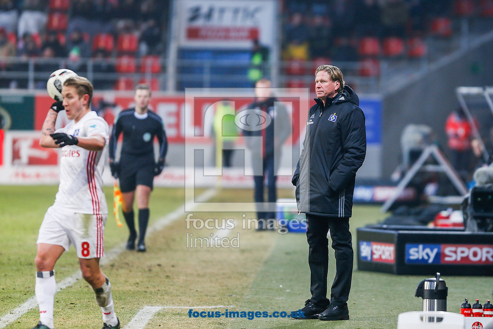 Markus Gisdol, head coach of Hamburger SV during the Bundesliga match at Audi Sportpark, Ingolstadt<br /> Picture by EXPA Pictures/Focus Images Ltd 07814482222<br /> 28/01/2017<br /> *** UK &amp; IRELAND ONLY ***<br /> <br /> EXPA-EIB-170128-1403.jpg