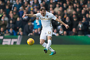 Leeds United Defender Laurens De Bock in action during the EFL Sky Bet Championship match between Leeds United and Millwall at Elland Road, Leeds, England on 20 January 2018. Photo by Craig Zadoroznyj.