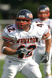 22 October 2005: Thunder MLB Jeff Grandy. The Illinois Wesleyan Titans posted a 23 - 14 home win by squeeking past the Thunder of Wheaton College at Wilder Field (the 5th oldest collegiate field in the US) on the campus of Illinois Wesleyan University in Bloomington IL