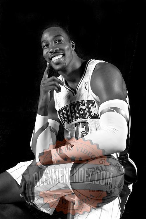 Dwight Howard, Orlando Magic media day promo shots at Amway Arena in Orlando, Florida.