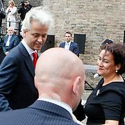 NLD/Den Haag/20110920 - Prinsjesdag 2011, Geert Wilders en partner Krisztina
