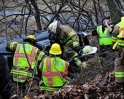 Rescue crews were called to West 27th Street near Spring Hill Road for a reported roll-over car crash with entrapment on Dec. 28th, 2014, in Allen Township. (Chris Post | lehighvalleylive.com)