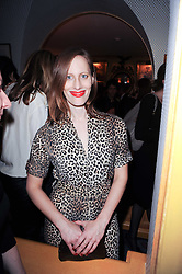 LIZ GOLDWYN at a party to celebrate the publication of Blow by Blow - The Story of Isabella Blow by Detmar Blow and Tom Sykes held at Annabel's, Berkeley Square, London on 21st September 2010.