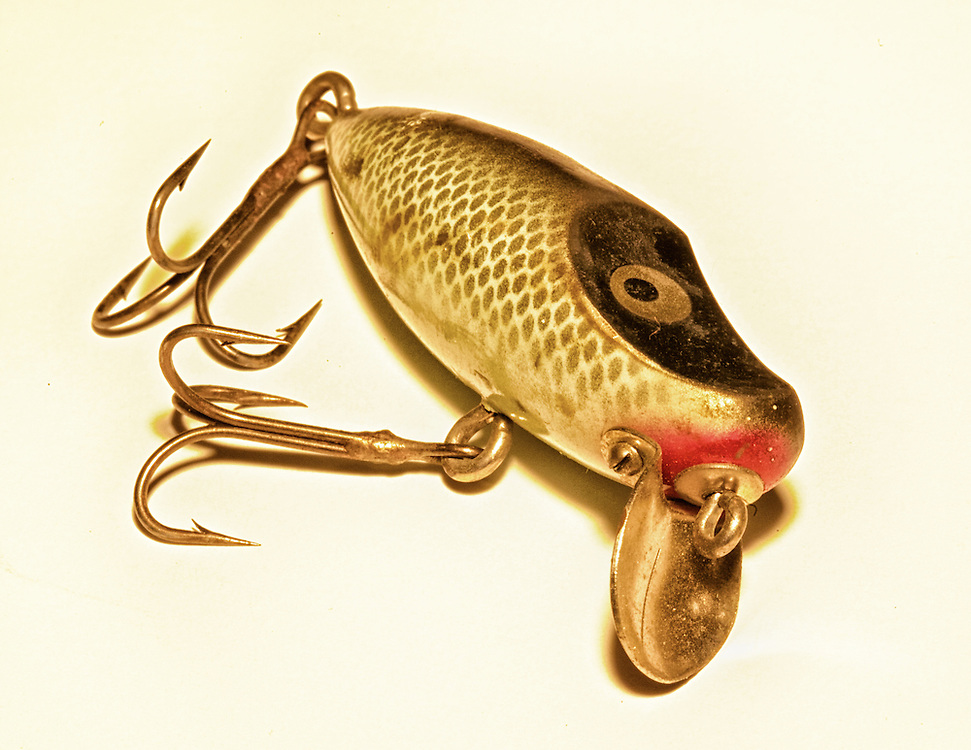 A vintage fishing lure from the 1940's, from my grandfather's tackle box.