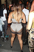 EXCLUSIVE<br /> After LTEYSHA GRACE suffered the most epic wardrobe malfunction when she appeared on Big Brother's Bit On The Side, she was back in London last night wearing a very revealing outfit !<br /> ©Exclusivepix Media