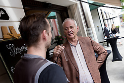 Bill Murray talking with Simon Vadnjal at exclusive after-work get-together in the company of Slovenia Vodka on June 5, 2017 in Restaurant and Bar Atelje, Ljubljana, Slovenia. Photo by Matic Klansek Velej / Sportida