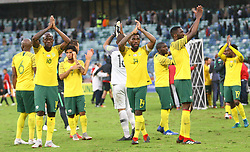 Durban 08-09-18 Disappointed Bafana Bafana thanks the fans for their supportl during the African Nations qualifier against Libya at Moses Mabhida stedium<br /> Picture Bongani Mbatha African News Agency (ANA)