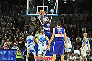 DESCRIZIONE : Campionato 2014/15 Dinamo Banco di Sardegna Sassari - Enel Brindisi<br /> GIOCATORE : Delroy James<br /> CATEGORIA : Schiacciata Controcampo<br /> SQUADRA : Enel Brindisi<br /> EVENTO : LegaBasket Serie A Beko 2014/2015<br /> GARA : Dinamo Banco di Sardegna Sassari - Enel Brindisi<br /> DATA : 27/10/2014<br /> SPORT : Pallacanestro <br /> AUTORE : Agenzia Ciamillo-Castoria / M.Turrini<br /> Galleria : LegaBasket Serie A Beko 2014/2015<br /> Fotonotizia : Campionato 2014/15 Dinamo Banco di Sardegna Sassari - Enel Brindisi<br /> Predefinita :