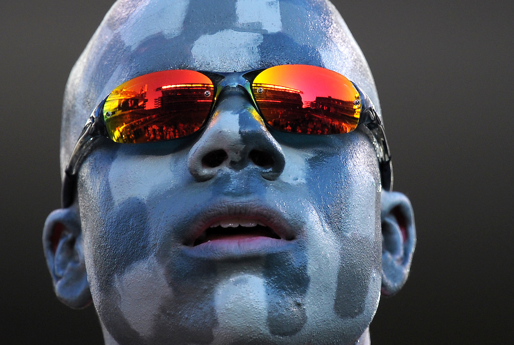 PHILADELPHIA - DECEMBER 12: An Army Cadet watches the game as the field is reflected in his glasses during the game against the Navy Midshipmen on December 12, 2009 at Lincoln Financial Field in Philadelphia, Pennsylvania. Navy won 17-3. (Photo by Drew Hallowell/Getty Images)  *** Local Caption ***