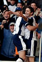 Photo: Daniel Hambury.<br />Tottenham Hotspur v Blackburn Rovers. The Barclays Premiership. 05/03/2006.<br />Tottenham's Robbie Keane celebrates his first goal.