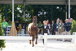 Helen Langehanenberg, (GER), Damon Hill NRW - Horse Inspection Dressage - Alltech FEI World Equestrian Games™ 2014 - Normandy, France.<br /> © Hippo Foto Team - Leanjo de Koster<br /> 25/06/14