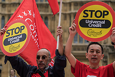 24 May 2018 - Protesters demonstrate against the Governments controversial  'Universal Credit'.