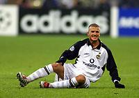 20.11.2001 München, Deutschland, <br />UEFA Champions League, FC Bayern München - Manchester United, Manchesters David Beckham am Boden.  ALEX GRIMM/ © Digitalsport