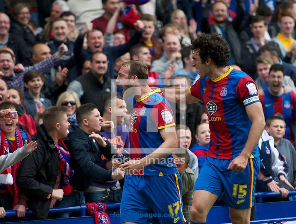Picture by Alan Stanford/Focus Images Ltd +44 7915 056117.04/05/2013.Glen Murray (17) and Mile Jedinak of Crystal Palace celebrates his goal during the npower Championship match at Selhurst Park, London...