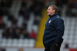 STEVENAGE, ENGLAND - Saturday, December 17, 2011: Stevenage's Graham Westley during the Football League One match against Tranmere Rovers at Broadhall Way. (Pic by David Rawcliffe/Propaganda)