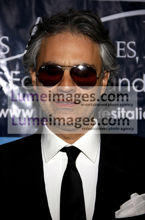 HOLLYWOOD, CA - MARCH 01, 2010: Andrea Bocelli at the Los Angeles premiere of 'Andrea Bocelli The Story Behind the Voice' held at the Grauman's Chinese Theater in Hollywood, USA on March 1, 2010.