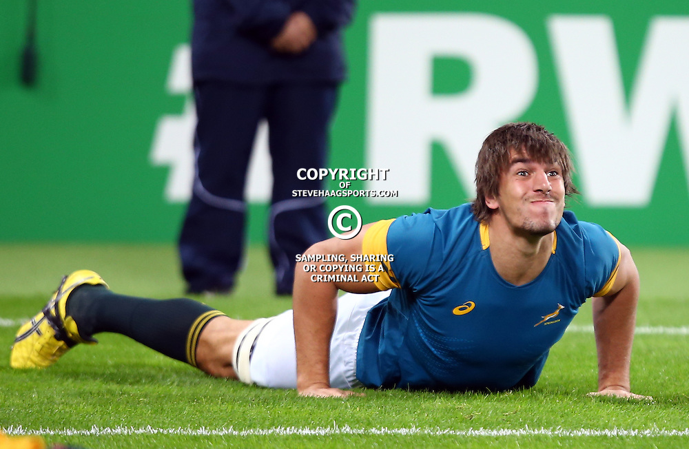 LONDON, ENGLAND - OCTOBER 30: Eben Etzebeth of South Africa during the Rugby World Cup 3rd Place Playoff match between South Africa and Argentina at Olympic Stadium on October 30, 2015 in London, England. (Photo by Steve Haag/Gallo Images)