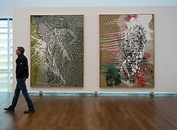 Paintings by Sigmar Polke at Museum Frieder Burda in Baden-Baden , Baden-Wurttemberg,Germany. -editorial use only