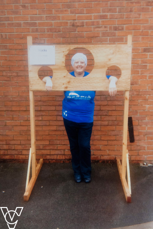COPY PICTURE of Denise Black in the stock during a charity fundraising day<br /> <br /> Denise Black has who works at the Lincolnshire Co-operative Nunsthorpe food store, in Grimsby, has worked for the company for 40 years!<br /> <br /> Date: October 23, 2015