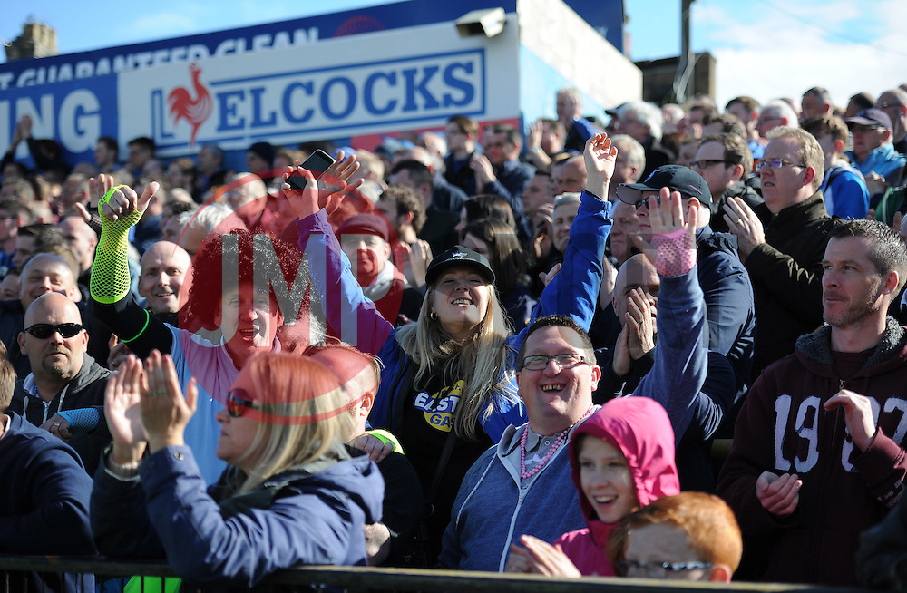 Bristol Rovers Fans at full time. - Mandatory by-line: Alex James/JMP - 30/04/2016 - FOOTBALL - Bootham Crescent - York, England - York City v Bristol Rovers - Sky Bet League Two