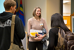Meant to Live homecoming speaker Mary Beth Leeper '00, in the Scandinavian Center in the Anderson University Center at PLU on Thursday, Oct. 2, 2014. (PLU Photo/John Froschauer)