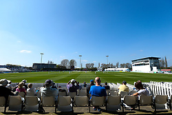 A general view of The 3aaa County Ground as Derbyshire take on Middlesex - Mandatory by-line: Robbie Stephenson/JMP - 20/04/2018 - CRICKET - The 3aaa County Ground  - Derby, England - Derbyshire CCC v Middlesex CCC - Specsavers County Championship Division Two