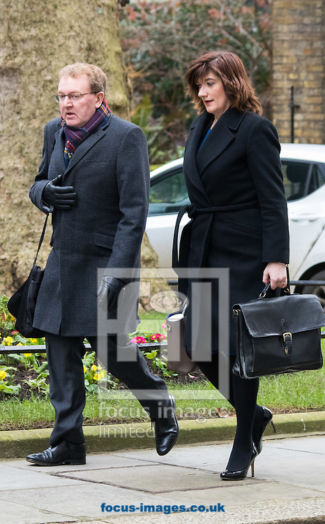 Scotland Secretary David Mundell and Education Secretary Nicky Morgan arrive at the UK Cabinet meeting at Downing Street, London.<br /> Picture by Paul Davey/Focus Images Ltd +447966 016296<br /> 08/03/2016