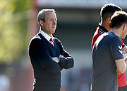 Caretaker Manager of Charlton Athletic Lee Bowyer during the EFL Sky Bet League 1 match between Rochdale and Charlton Athletic at Spotland, Rochdale, England on 5 May 2018. Picture by Paul Thompson.