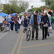 Crowds of shoppers at 2011 Fall Bicycle Swap Meet, Tucson, Arizona. Bike-tography by Martha Retallick.