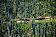Train of the White Pass and Yukon Railway, Skagway, Alaska