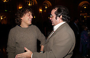 Alan Davies (aka Jonathan Creek)  and Danny Baker, First night for 'The Producers' at the Theatre Royal, Drury Lane and afterwards at the Waldorf Astoria. ONE TIME USE ONLY - DO NOT ARCHIVE  © Copyright Photograph by Dafydd Jones 66 Stockwell Park Rd. London SW9 0DA Tel 020 7733 0108 www.dafjones.com