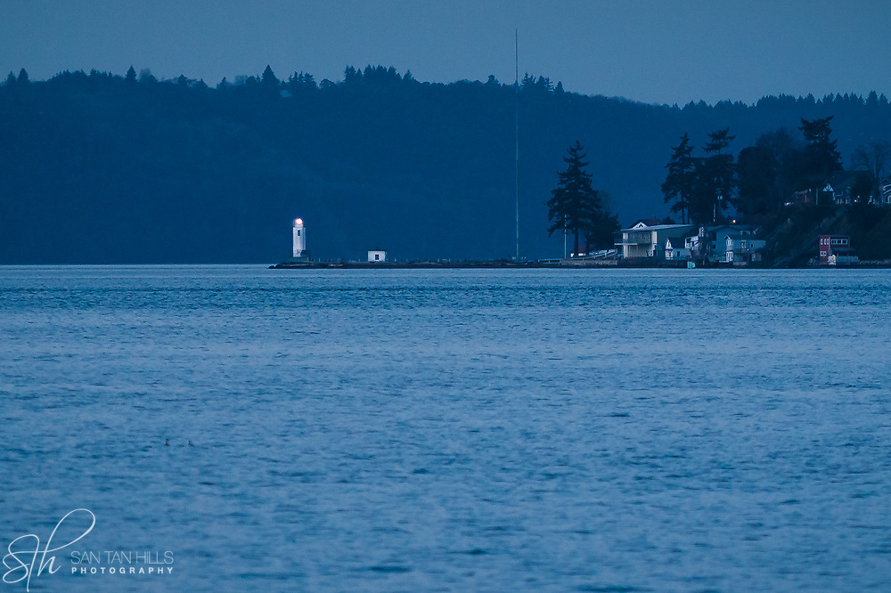 Browns Point Lighthouse as seen from Ruston Way, WA