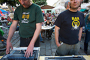 SOHO in Ottakring. Polycultural/-stylistic concert by SaLeDo (Salah Addin/Sudan, Lena Frankhauser/Canada, Dominik Nostiz/Austria..Now in its 9th year, SOHO in Ottakring is an established art festival in public spaces of Vienna's 16th city district. In cooperation with the local community, up to 200 artists take part in the annual festival at the end of May/beginning of June. The festival is a huge success and has helped develop the formerly neglected and decaying district into a sprawling, 'hip' urban area. More info in German at: www.sohoinottakring.at
