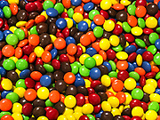 Colorful assortment of M&Ms.