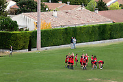 children warming up before the game