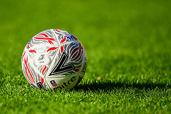 The new FA Cup Match Ball prior to kick off - Mandatory by-line: Ryan Hiscott/JMP - 11/11/2018 - FOOTBALL - The Hive - Barnet, England - Barnet v Bristol Rovers - Emirates FA Cup first round proper