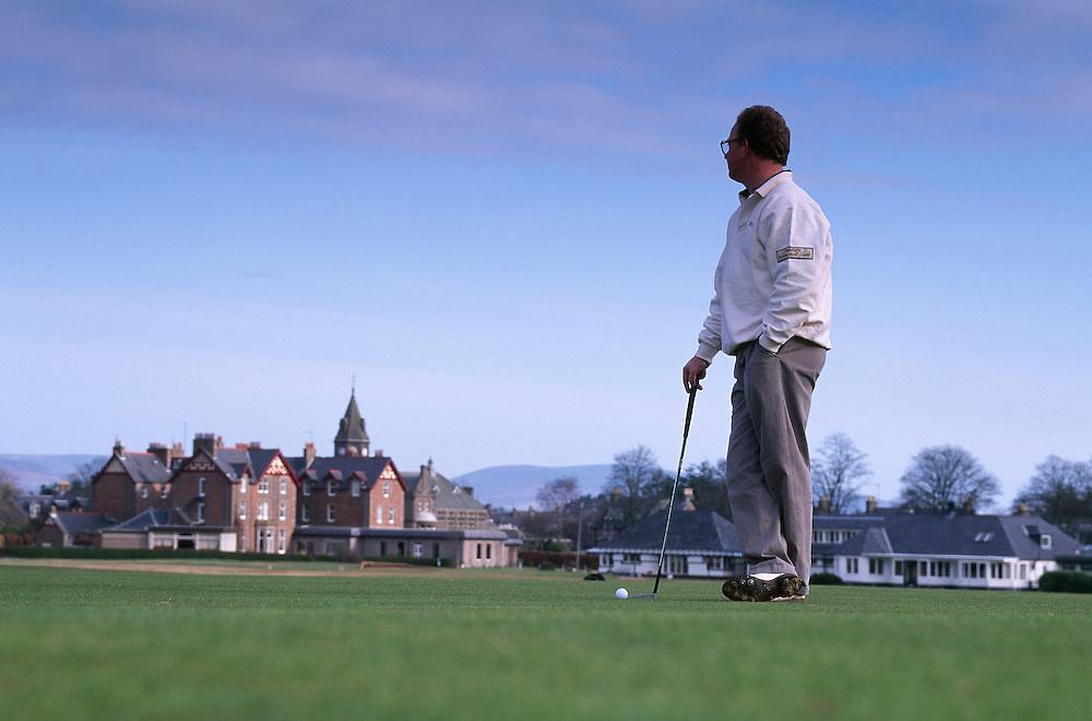 Golfer at Edzell