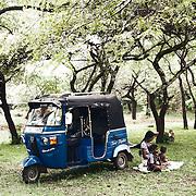 Tuk Tuk pic nic with monkey during the Vesak time
