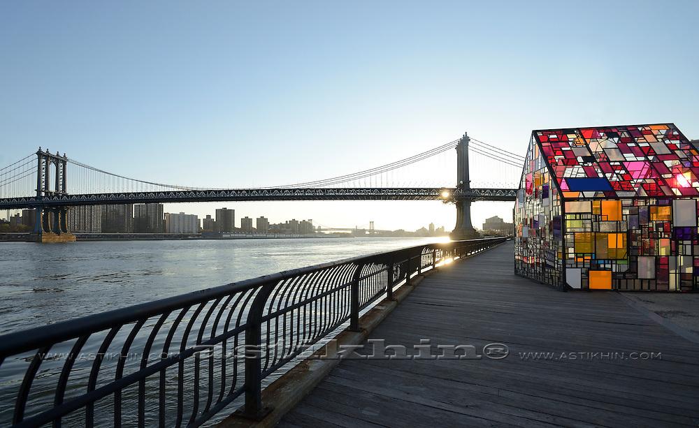 Tom Fruin, ICON series in Brooklyn Bridge Park, New York City.