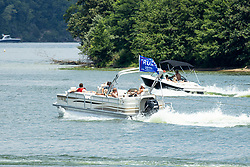 Fun on the water at Clinton Lake for the 4th of July 2020 celebration