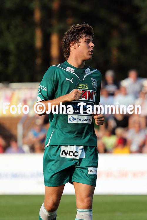 26.07.2010, Harjun stadion, Jyv?skyl?..Veikkausliiga 2010, JJK Jyv?skyl? - Tampere United..Jonas Emet - TamU.©Juha Tamminen.
