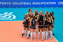 02-08-2019 ITA: FIVB Tokyo Volleyball Qualification 2019 / Belgium - Netherlands, Catania<br /> 1e match pool F in hall Pala Catania between Belgium - Netherlands. Netherlands win 3-0 / Team Netherlands